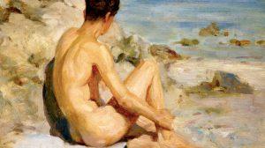 Henry Scott Tuke: Boy on a Beach, 1912